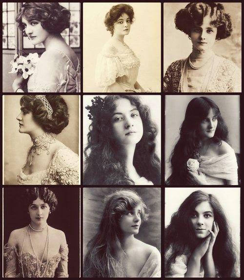 Evening dress 1910 hairstyles