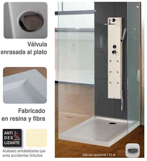 plato de ducha antideslizante 100x80cm modelo contact de Loga