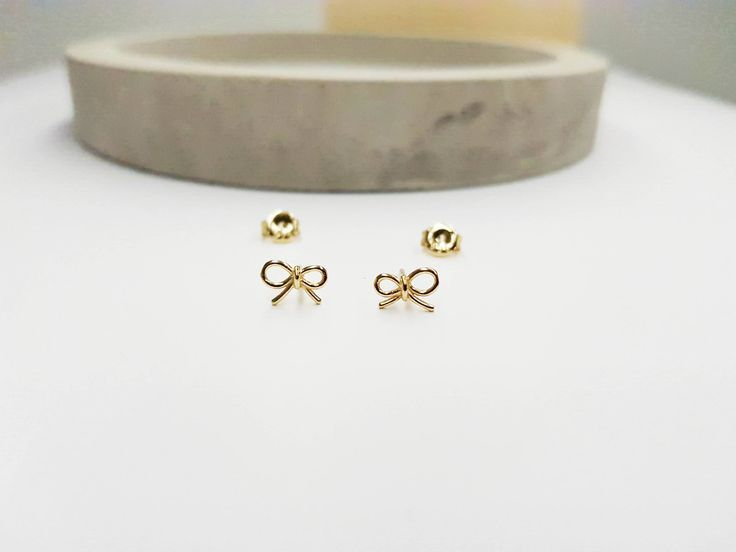 Excited to share the latest addition to my #etsy shop: bow earrings, gold earrings, girl earrings, bow jewellery, sterling silver earrlings, bow stud earrings, girls gift http://etsy.me/2DAS4BX #jewellery #earrings #goldearrings #bow #bowearrings #girlsearrings