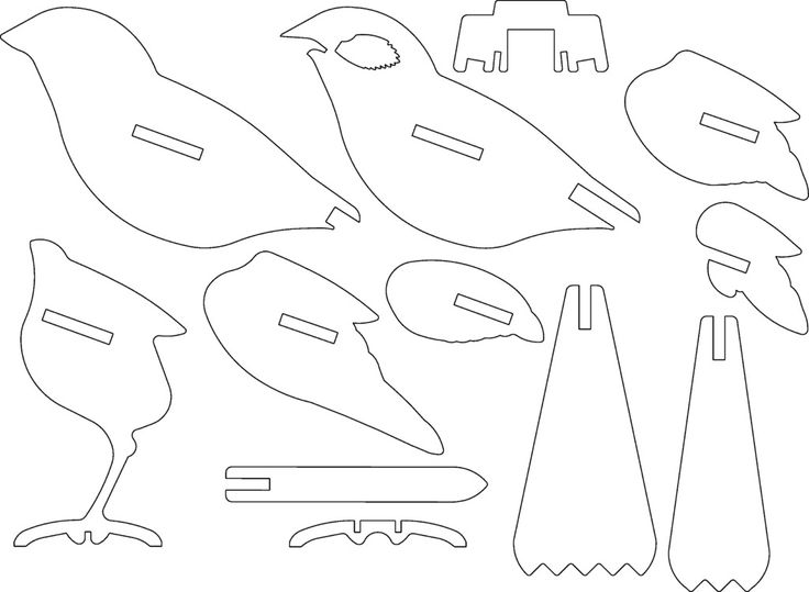 bird ready for laser cutting or 3d printing   by hexleyosx