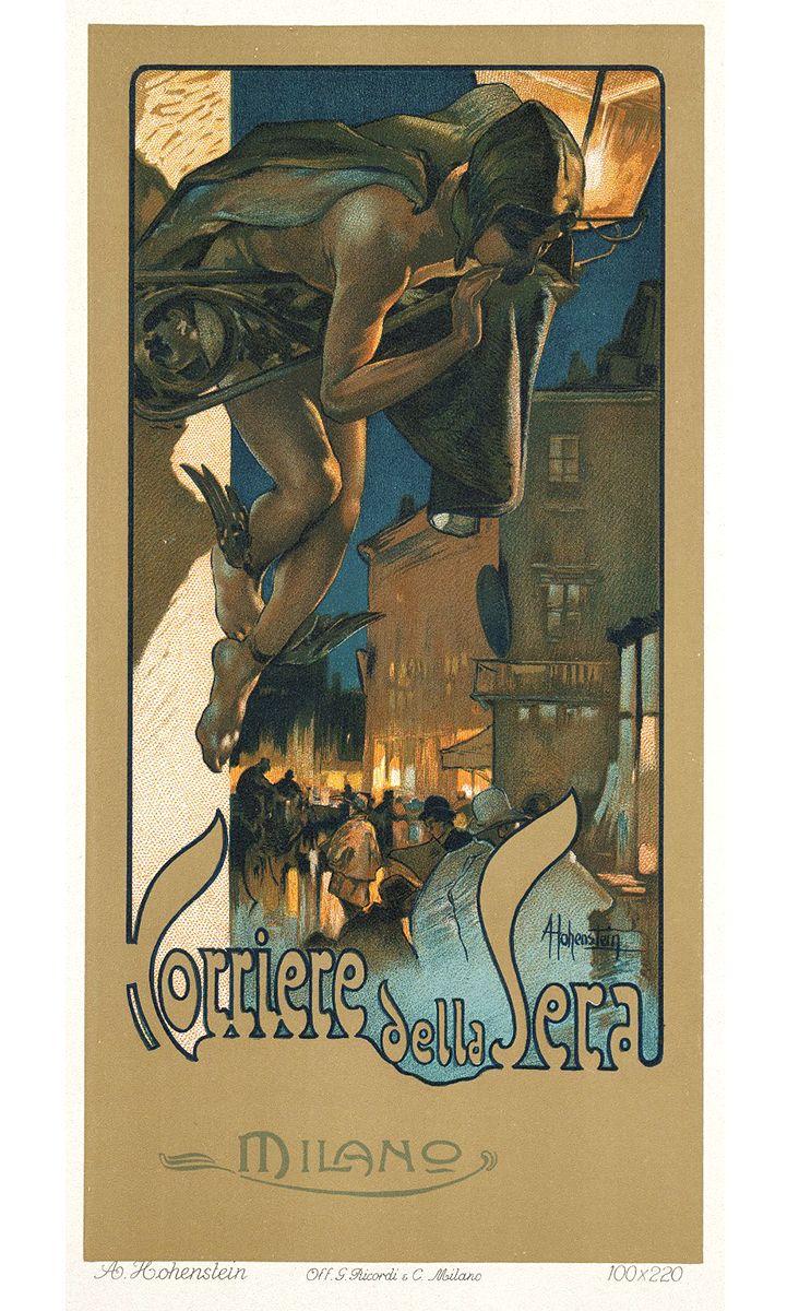 Adolfo Hohenstein, un artista Liberty, grande grafico pubblicitario della corrente artistica Art Nouveau. http://www.italialiberty.it/adolfohohenstein/