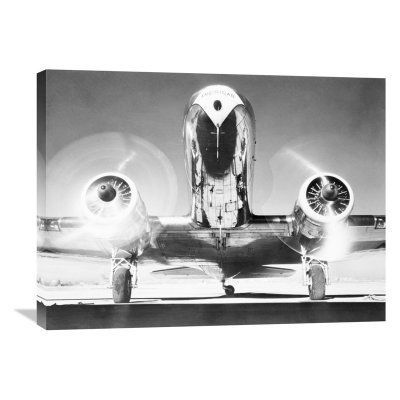 Global Gallery Front View of Passenger Airplane Wall Art - GCS-375415-2432-142