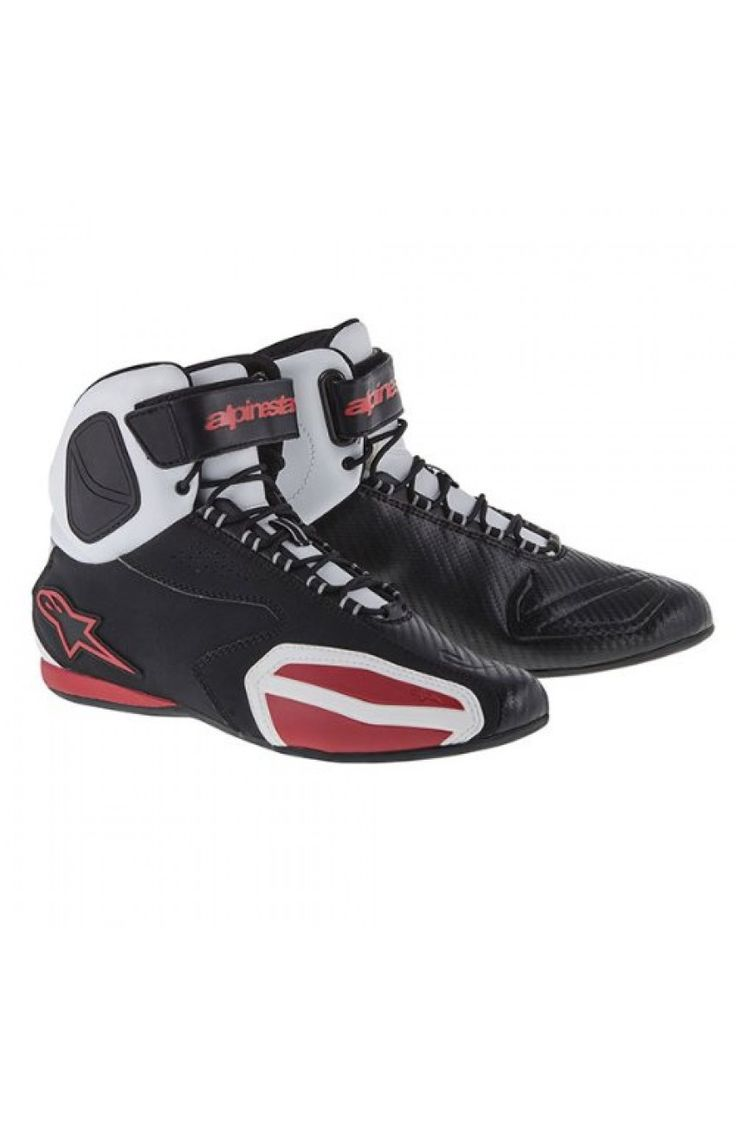 Ghete Alpinestars Faster Black/White/Red  Boots Alpinestars Faster