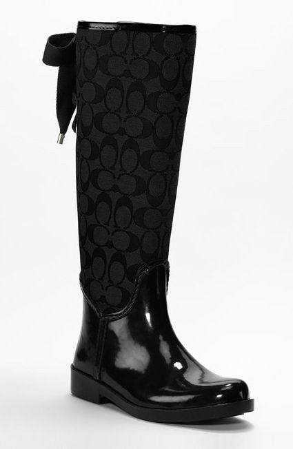 loving these, dressy rainboots cause even on rainy days you never know who you might run in to