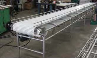 I think this conveyer is a really cool design. The belt is made out of a really sanitary material and I think it is lace-less. I want to recommend something like this to my friend. He works in a factory on a production line.