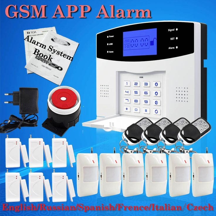 Großen Aktionen! englisch Russisch Spanisch Französisch Italienisch Sprach Drahtlose Gsm-alarmsystem Home security Alarm systeme LCD Tastatur