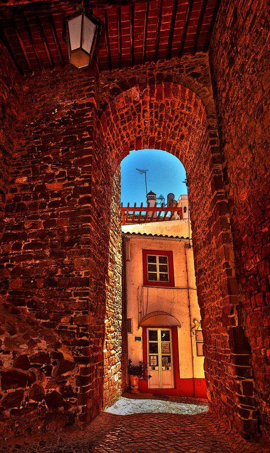 Silves castle walls, Algarve,  Portugal