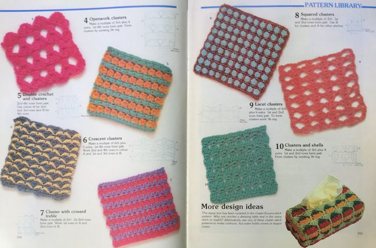 Crochet stitch library.  Busy Needles. Part 14.