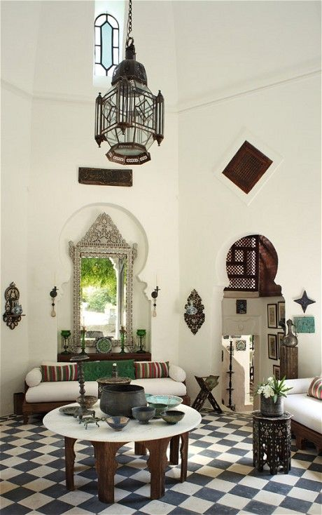 Interiors: a 19th-century Moorish villa – in Provence - Telegraph Love all of the Moroccan vibes . Photo: telegraph.co.uk