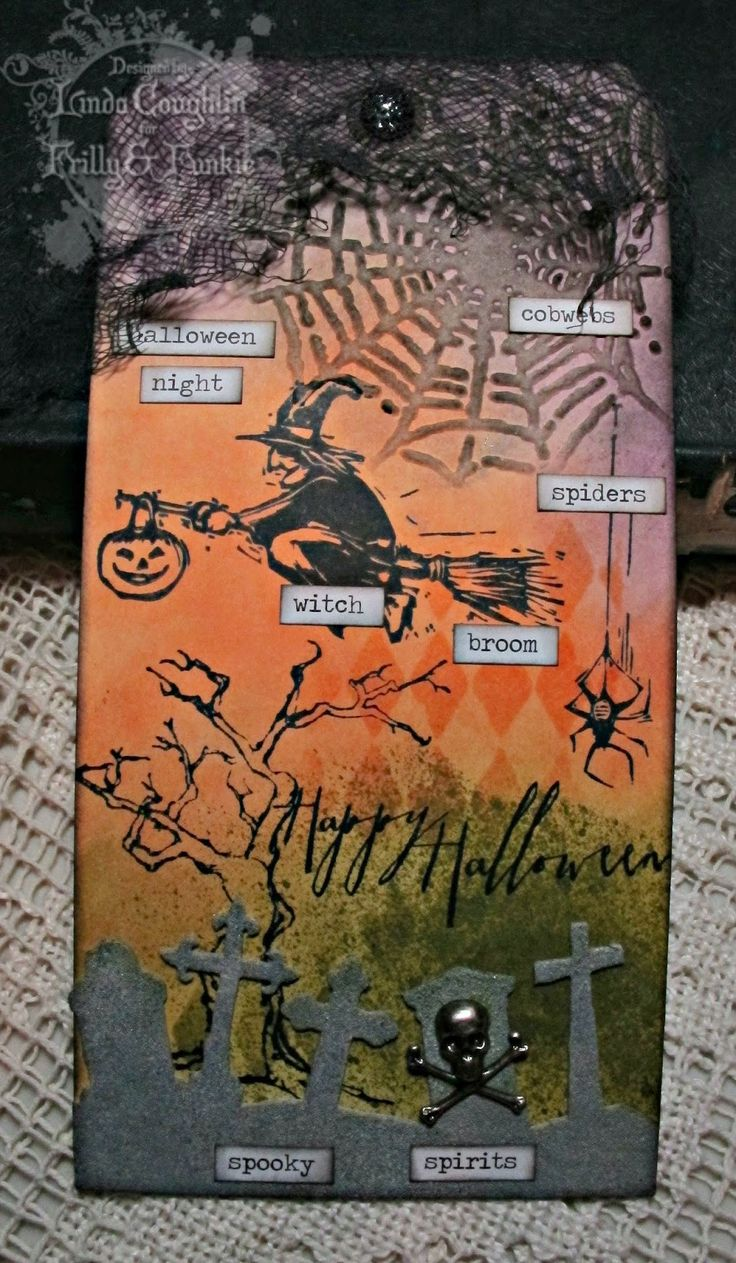 The Funkie Junkie: Simply Spooky used Tim Holtz distress inks, stamps and stencils