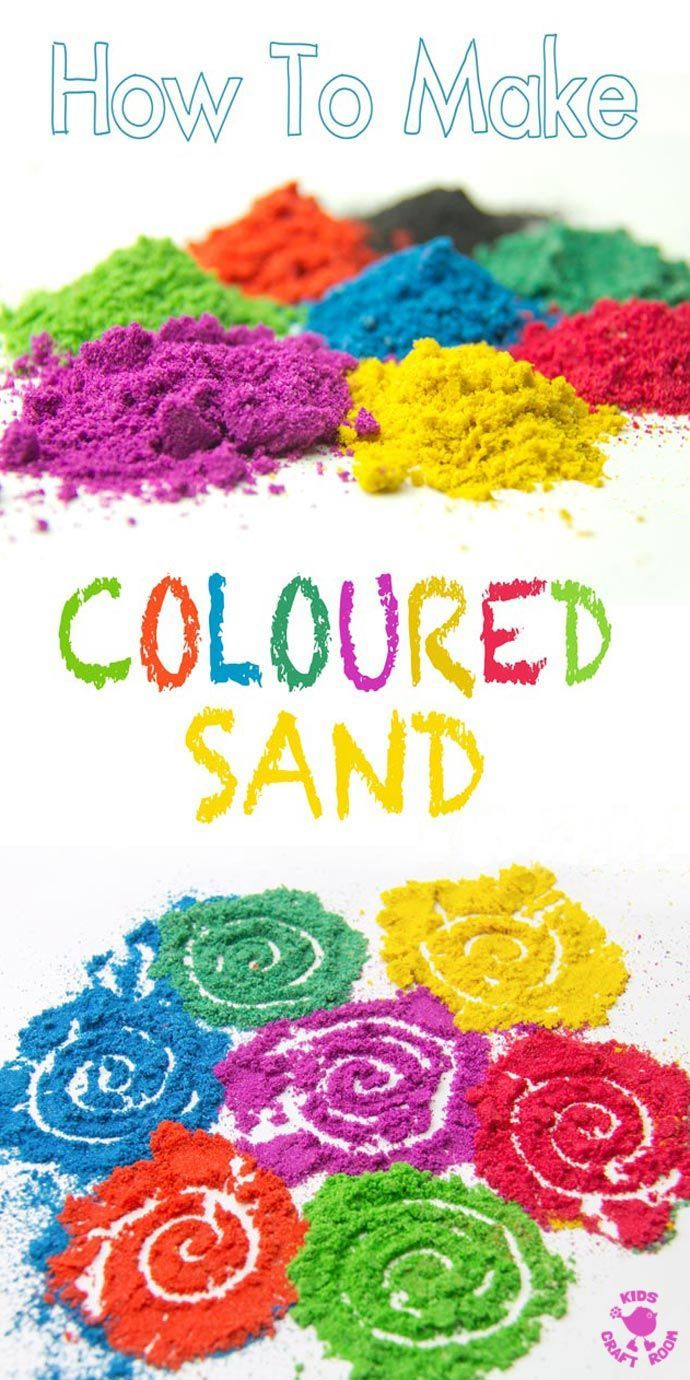 DIY COLOURED SAND - It's easy and fun to make vibrant coloured sand for all your sand art projects, sand play and Rangoli art.