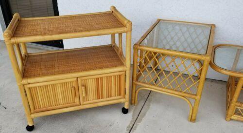 Best 7 Piece Mid Century Modern Bamboo Rattan Glass Tiki Living 400 x 300