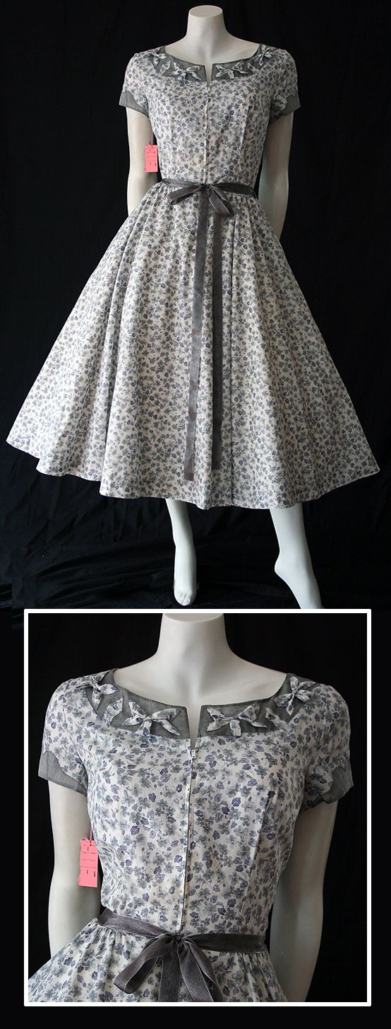 Here I was thinking I could have worn this in the '50's when I was a teen and t hen discovered.....Fabulous 1950s dress by Neiman Marcus in Liberty Print cotton.
