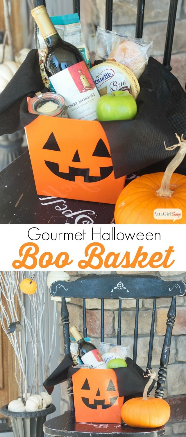 25+ best Halloween gift baskets ideas on Pinterest | Candy pumpkin ...