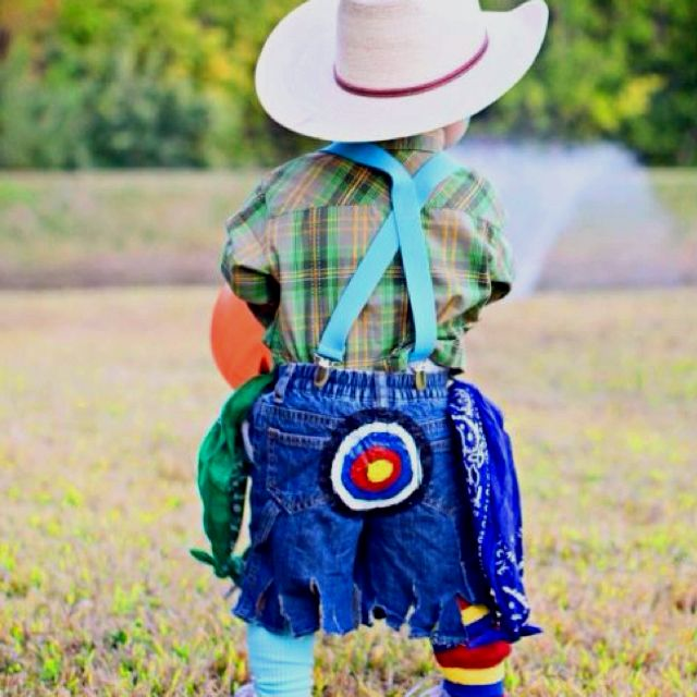 little Rodeo clown Halloween costume!!!!!!! This was Dakota on his first halloween now 17 yrs later it is no longer a costume...it's his way of life! Couldn't be prouder! Best is to come!