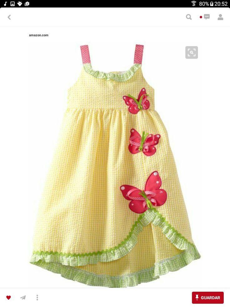 2d0c4d9ba Mejores 155 imágenes de vestidos para bebesitas en Pinterest