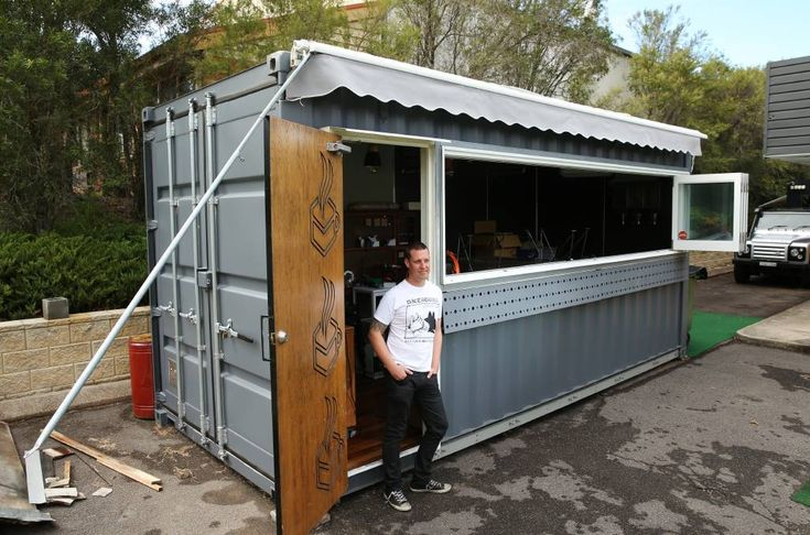 In storage: Murray Ruse has dismantled his relocatable shipping container cafe in Warabrook because Newcastle City Council considers it a permanent structure needing to meet permanent building codes. Picture: Max Mason-Hubers.