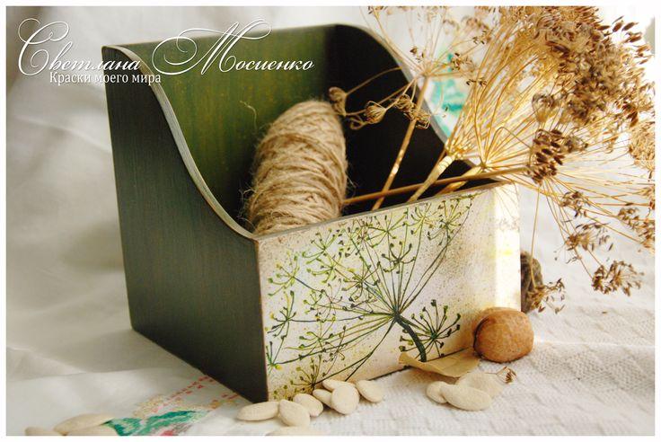 #decor #decoupage #handmade #Box for spices