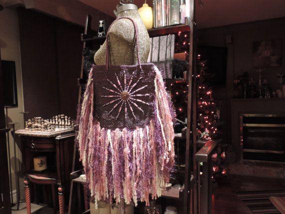 Hippy purse Upcycled Purse Tracy Boho Hippy Gypsy