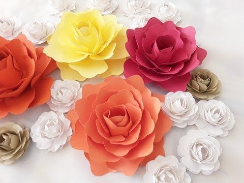 DIY Small Paper Flower Tutorial - YouTube