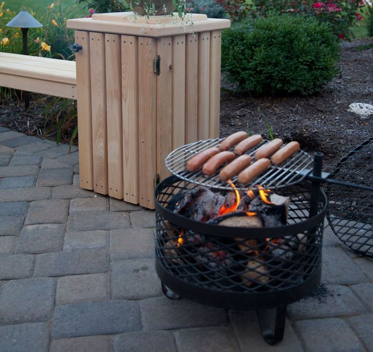 Cowboy Fire Pit Grill with Wheels