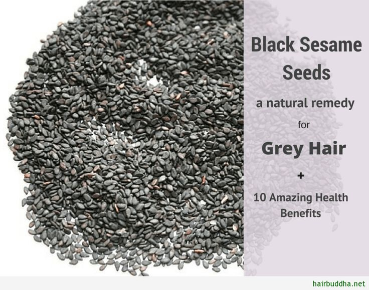 Black Sesame Seeds: A Natural Remedy for Grey Hair: Many of us are looking for a magic pill to darken grey hair. And may be it does exists.