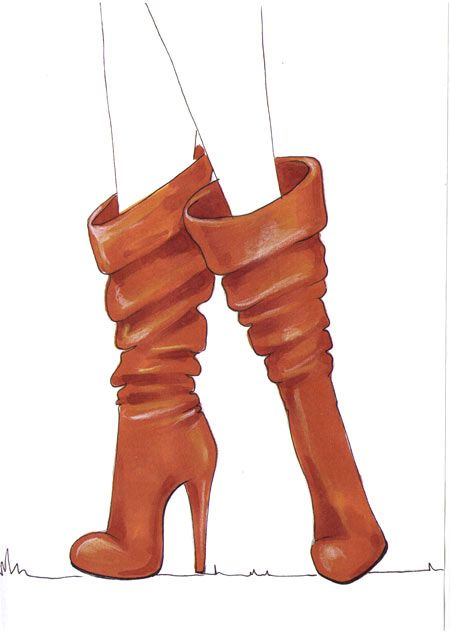 Drawing boots for fashion sketches tutorial