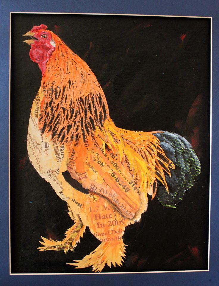Buff Brahma Bantam rooster, created 2014