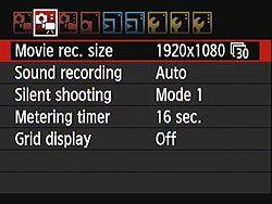 Canon 60D Review: Full Review - Menus