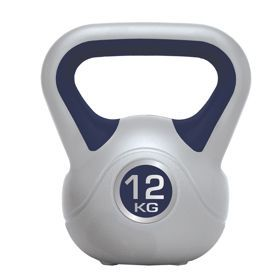 Hantle Kettleball Spokey 12kg 834204. Odważnik z uchwytem. Trening z odważnikami jest porównywalny do ćwiczeń z hantlami, ale różni się od nich tym, że jest niewyważony. W odróżnieniu od typowych hantli czy sztangi odważniki mają przesunięty środek ciężkości. #odwaznik #sprzetdocwiczen #silownia