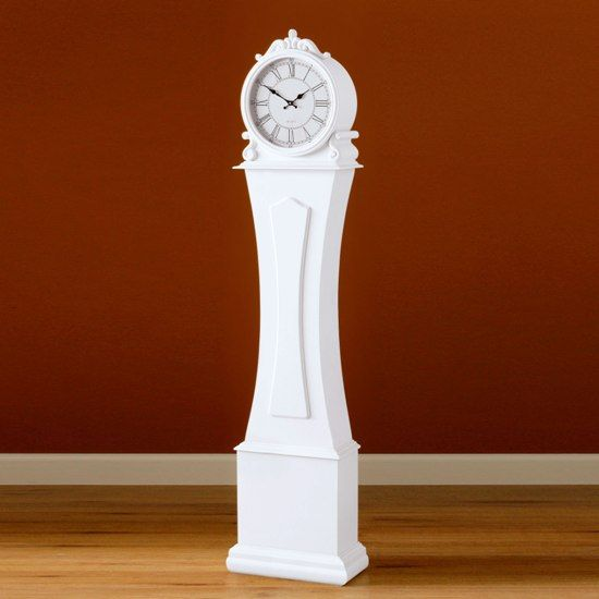 white-grandfather-clock