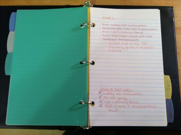 Organizing for Nursing School | This Nursing Journey
