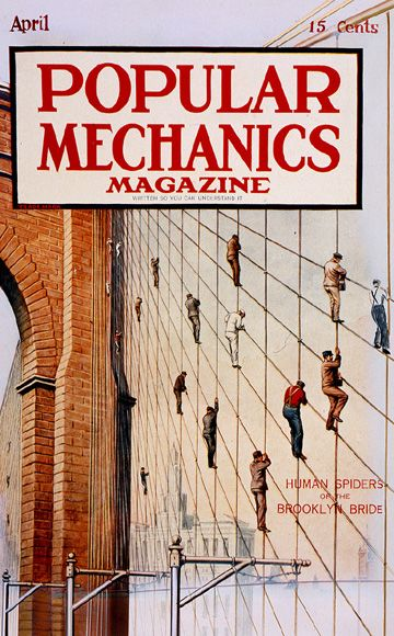 Before New Fix Was Needed, Human Spiders Gave Life to Brooklyn Bridge: Time Machine (April 1915)
