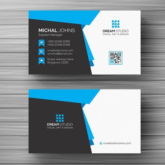 Business Card Template Blue Business Card Business Card Type Printing Business Cards