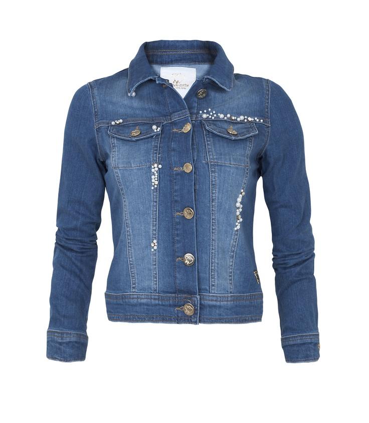 Maison Espin denim jacket #maisonespin #springsummercollection13 #womancollection #denimjacket #lovely #MadewithLove #romanticstyle #milano