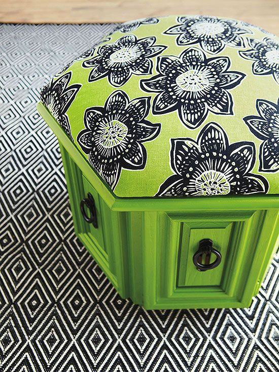 After: Thoroughly Modern Pouf