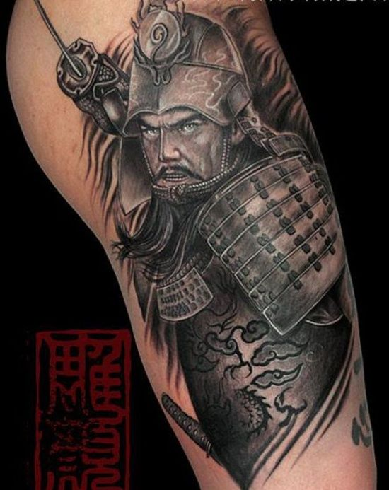 A Samurai tattoo that is just black with the skin as the background will look good. But adding color to the tattoo will really make it stand out. Most Samurais have black hair, but having the profile of the warrior against a colorful background will add drama and intensity to the tattoo and make it truly a unique tattoo. Most Samurai robes are white, but you can add color by filling in the belt or other accessories with color. Even a natural setting with the rich green of plants or a castle…