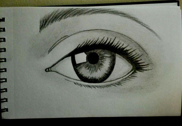 realistic eye, pencil, sketch