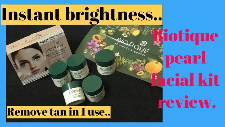 Biotique pearl facial kit review II Remove tan in one use II Instant bri...