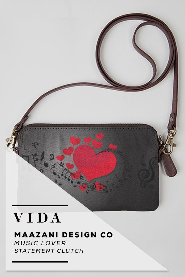 VIDA Statement Clutch - Bird on a wire by VIDA kfJNj