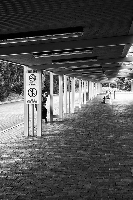 Bus Station Peeking Adelaide Australia  November 2014