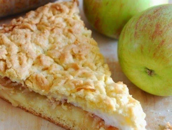 Пирог мечта с яблоками песочное тесто