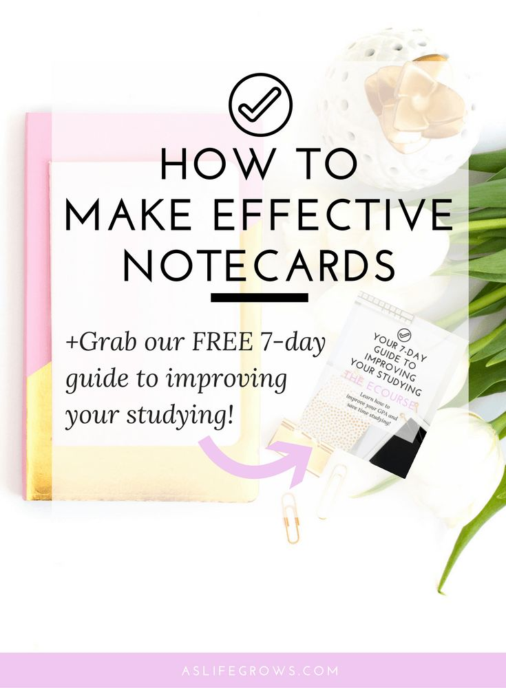 Are you struggling to make effective notecards? If so, this post can help you start making effective notecards that will leave you prepared for your exams!