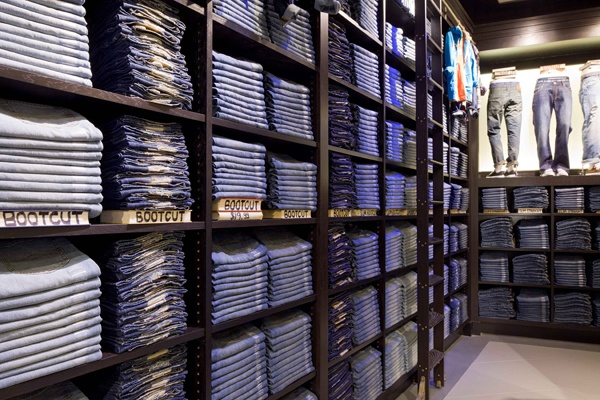 Denim Library at Aéropostale in Times Square, New York