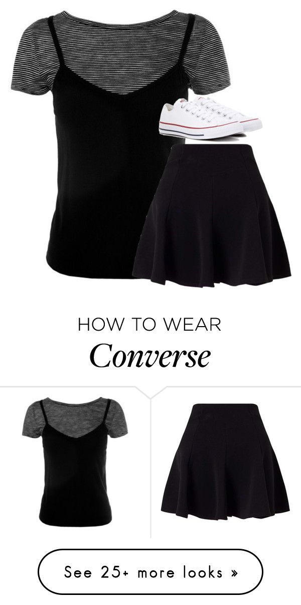 """""""Untitled #2782"""" by laurenatria11 on Polyvore featuring Sans Souci, Miss Selfridge and Converse"""