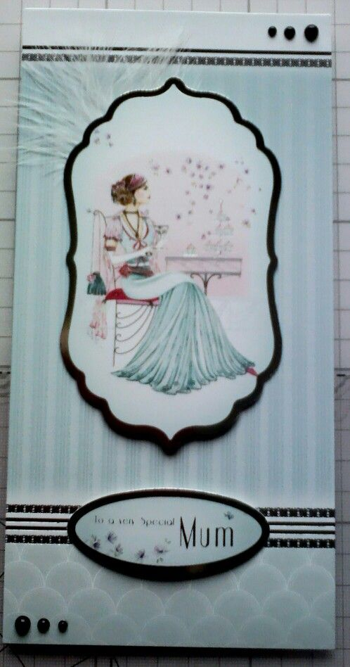 Hunkydory art deco card for mum