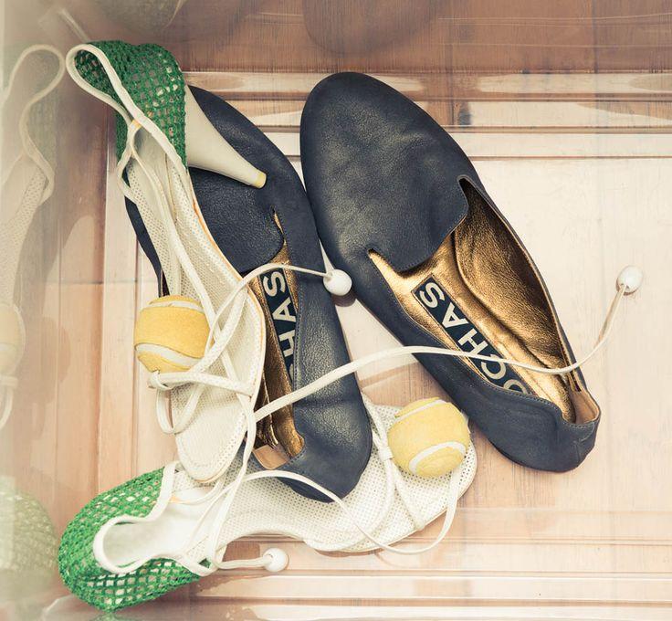 Chanel tennis shoe heels