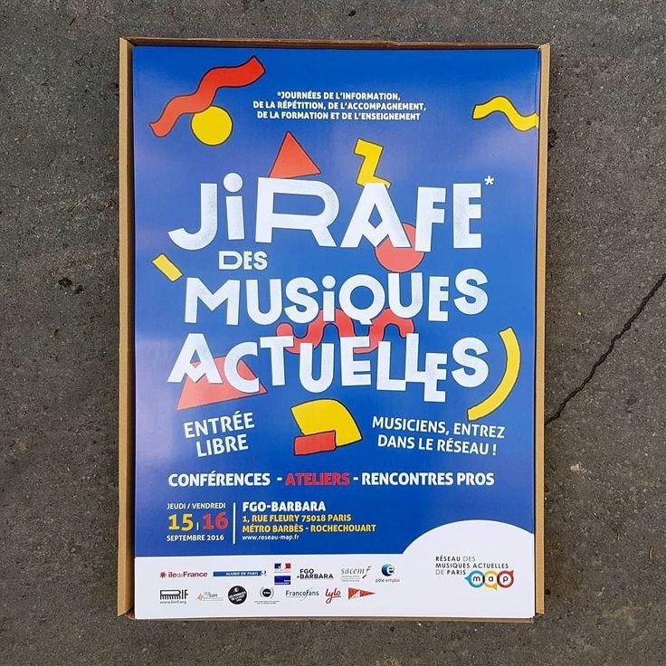 Livraison des affiches Jirafe des Musiques Actuelles du #reseaumap au FGO-Barbara les 15 et 16 septembre 2016