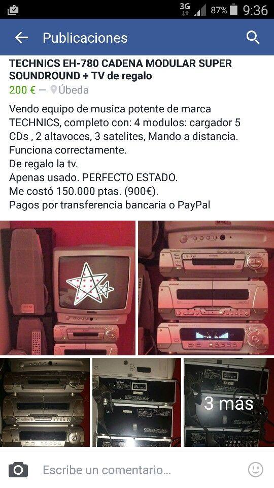 MINI CADENA DE MÚSICA TECHNICS + TV REGALO.   200 €