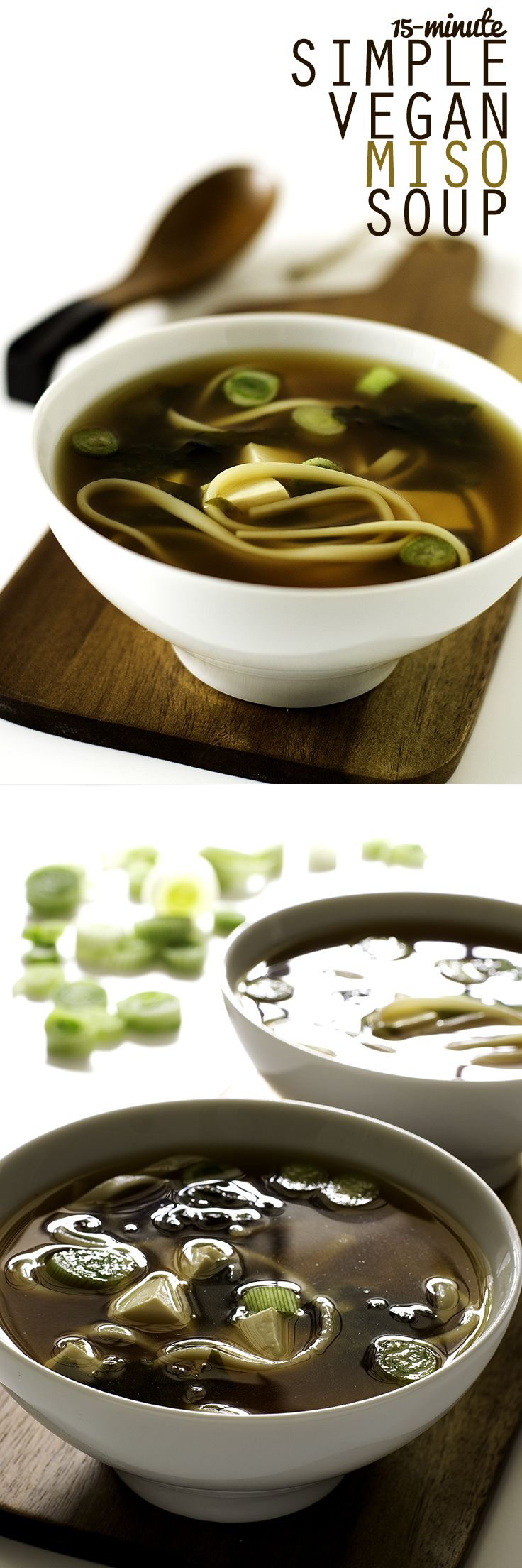 15 Minute Simple Vegan Miso Soup #vegan #recipe
